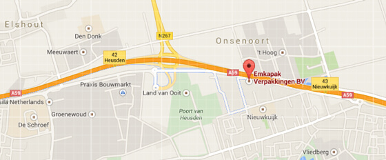 Route naar Emkapak