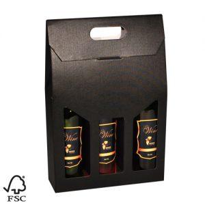 563080 wijndozen wijnverpakking wijnverpakkingen flesverpakking draagkarton